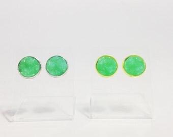The Druzy Earrings in Mint | Mint Green Druzy Earrings | Mint Earrings | Mint Druzy Jewelry | Druzy Jewelry |