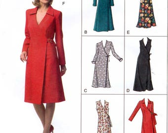 Vogue V7931 Misses' Wrap Dress Sewing Pattern - Uncut - Size 18, 20, 22 - Bust 40, 42, 44