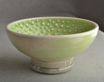 Shaving Bowl Ready To Ship Soda Fired Dottie Shaving Bowl by Symmetrical Pottery