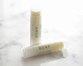 H E M P - Calming Essential Oil Scented, Organic Lip Balm, Natural Lip Balm