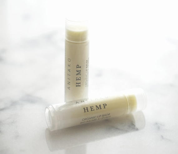 H E M P - Calming Essential Oil Scented, Organic Lip Balm, Natural Lip Balm