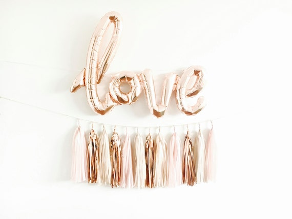 Rose Gold Love Balloon Banner
