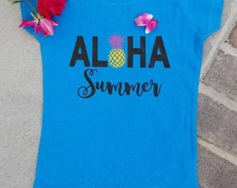 Aloha Summer - Toddler - Short sleeve - Tshirt - Summer Tee