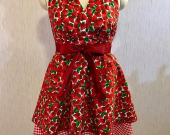 Strawberry Shortcake Apron - Valentine's Picnic