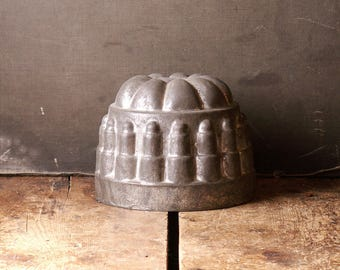 Vintage Round Cake Mold from Germany - Vintage Rustic Kitchen Decor!