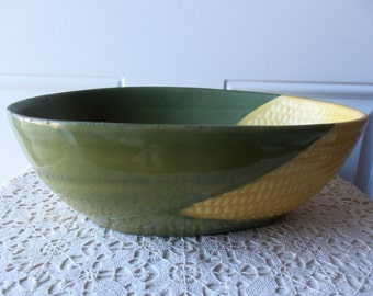 Shawnee Corn King - 9 inch Vegetable Bowl, Vintage Pottery, Native American, Made in USA, Collectible, Gift Idea, Display, Kitchen:  SCK-103