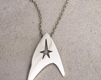 Star Trek necklace / Star Trek pendant / unisex silver jewelry