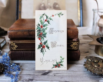French antiques pious image Merry Christmas 1930s french country collection religious french christmas catholic french cottage