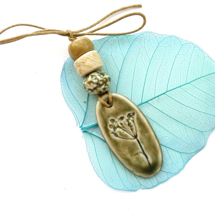 Ceramic pendant and beads handmade jewelry making supplies for Earring supplies for jewelry making