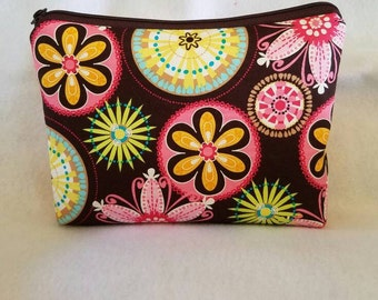 Carnival Bloom cosmetic Bag/Accessory Bag-Large