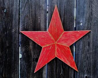 Large Rustic wood star #502