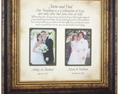 Parent wedding gift, custom photo mat, Parent wedding gift frame, Parent gift , wedding cake topper love, 16x16