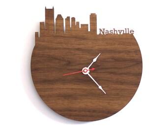 """Nashville Clock - 7"""" Walnut SAMPLE"""