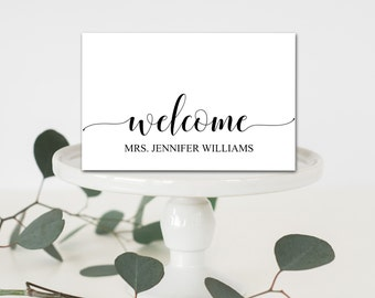 Printable table name etsy editable welcome table place cards tent fold table setting name cards shower table place pronofoot35fo Image collections