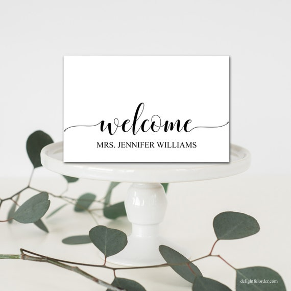 Editable welcome table place cards tent fold table setting editable welcome table place cards tent fold table setting name cards shower table place setting template diy pdf printable pronofoot35fo Image collections