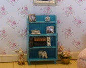 Small Shabby Chic Country Book Shelf   for Dollhouse