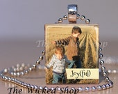 Custom Order for LANA Scrabble Tile Pendants with Quotes - Free Silver Plated Ball Chains