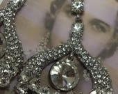 Art Deco chandelier earrings wedding dress perfect 1920s 1930s flapper inspired
