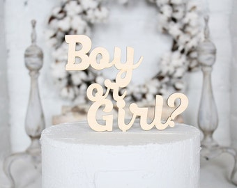 Boy or Girl? Baby Shower Cake Topper Birth Announcement Cake Topper Question Mark Cupcake Topper Baby Shower Cake Topper