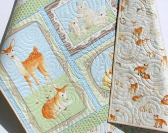 Forest Friends Quilt Kit Moda Fabrics Blue By Sunnysidefabrics