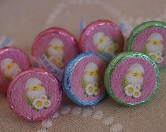 Kisses Easter Labels, Easter Kisses, Easter Table favors, Easter party favors, Easter Bunny Kisses . Set of 100