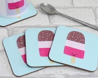 Retro Ice Lolly Coaster - Fab Ice Cream