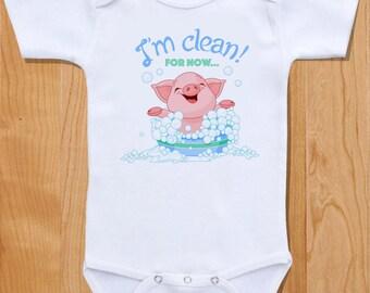 I'm clean! For now... Unique Baby Onesie