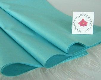 Aqua Blue Tissue Paper |  Aquamarine | 48 Sheets | DIY Wedding Decor | Gift Wrap Paper | Favor Packaging | DIY Pom Pom & Garland Supplies