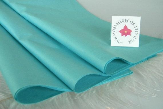 aqua tissue paper