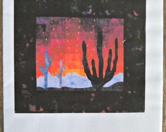 Sentinel at Dawn Quilt Pattern, by Castilleja Cotton