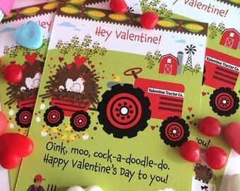 Farm Valentine for Kids