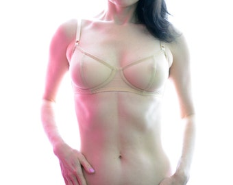 Women Sleepwear & Intimates Bras The Sheer Cup Underwire Nude Mesh Bra MADE TO ORDER