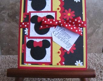 Disney Handmade Card - Happy Birthday - Minnie Mouse