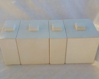 Set of Four Plain Minimalist Volltex Industries Canisters