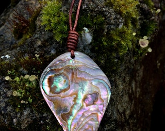 Abalone and Leather Necklace