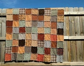 Homespun and Muslin Rag Quilt in a variety of homespuns baby crib size to king Lightweight quilt for warmer weather custom made just 4 you