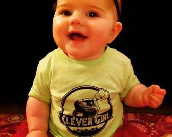 Jurassic Clever Girl Dinosaur Onesie // Infant / Toddler / Kids Tee Shirt