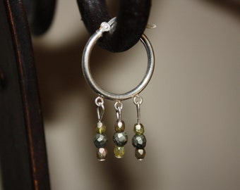 Dangles and sterling earrings