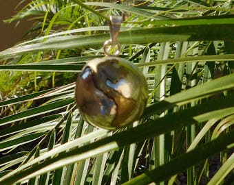 World Sterling Silver Copper Jingle Pendant