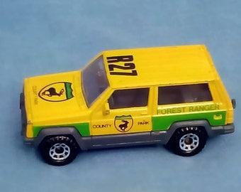 Vintage Matchbox Jeep Cherokee Die-Cast Model 1/58 1986 - County Park Forest Ranger Vehicle
