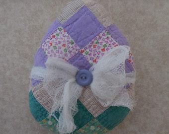 Primitive Vintage Quilt Easter Egg Tuck Holiday Basket Filler Pillow Tuck