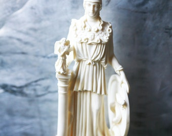 Vintage Athena Statue / Vintage Greek Mythology Figurine / Athena Goddess Statue / Vintage Greek Statue