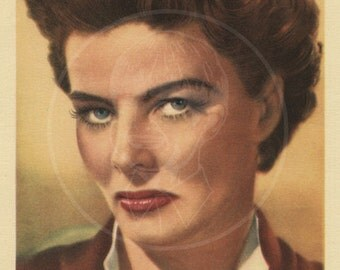 Katharine Hepburn - 10x16 Giclée Canvas Print of Vintage Postcard
