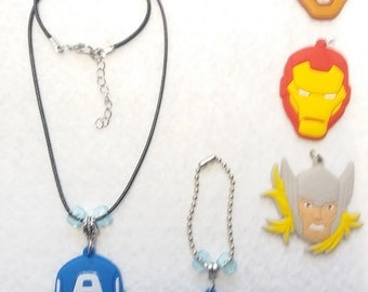 Hero Set of  Necklace and Zipper Pull
