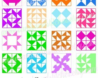 Quilt Squares SVG - Quilting SVG - Quilt Printable Art - Digital Cutting File - Graphic Design - Instant Download - Svg, Dxf, Jpg, Eps, Png