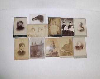 Victorian Antique black and white photos large photographs Lot of 11
