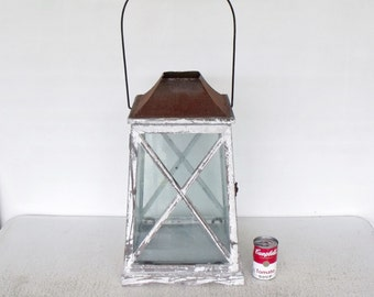 Large Vintage Lantern Candle Box Rustic Wedding Card Holder