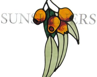 Gum nuts Suncatcher window sticker/decal stained glass style Sunshiner