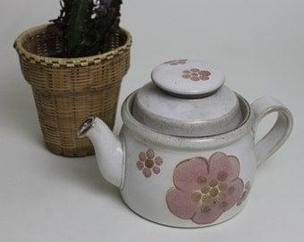 Denby Gypsy Pink Flower Pattern Small Teapot