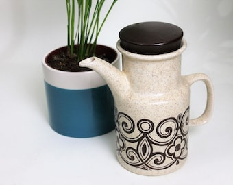 Bilton Staffordshire Pottery Brown Design Coffee Pot
